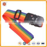 TSA luggage Belt Type and polyester Material luggage strap with combination lock