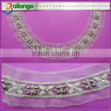wholesale new fashion bridal crystal beaded necklace motif for garments