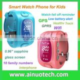 silicone band ios android kids phone watch GPS/sim card/SOS/wifi/intercom/cell phone/healthy monitor/waterproof