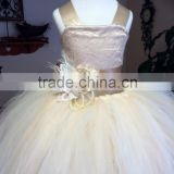Latest Children Princess Wedding bridesmide dresses Frocks Birthday Lace Ball Gown Long Flower Girl Dresses LF25