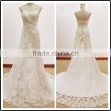 Lace White Sweetheart Neckline Floor Length Custom Made Long Formal Bridal BW285 wedding dresses real picture