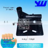 JY-1002R|Electrophoresis black metal pipe connector|Heavy duty foot pad for pipe and goods shelf|Caster wheel connector