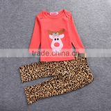 Wholesale children's clothes europe style cotton long sleeve boutique kids clothes sets