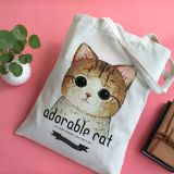 Canvas Calico Bags Plain Tote DIY Craft All-Purpose Natural Blank Bag Shopping