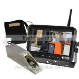 Forklift mast view video surveillance camera with power pack