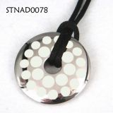 Round Stainless Steel Pendants , Custom Metal Pendant