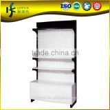 Wooden & Steel single-side carving background cloth display stand , metal display shelf for clothing shop
