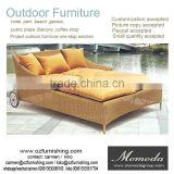 1066 outdoor daybed sun bed lounge rattan bed wicker cabana USA Brazil Thailand hotel furniture