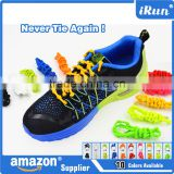 Never No Tie Training Shoe Laces with Knots Laces for Triathlon Running~Lazy Shoelaces Perfect for All Sports Shoe~Accept Custom