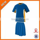 Football tracksuit wholesale cheap/breathable soccer uniforms set/customized wholesale mens uniforms football