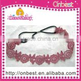 handmade lace fabric elastic hair band