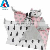 washable soft baby plush toy blanket cat cartoon infant comforter