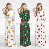 Winter Full Length Dress Christmas Women Long Dresses One Piece for Fat Girls Pajamas Outfit