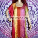 Details about Indian Block printed Kaftan viscos Silk Kaftan Poncho Sexy Beach Wear Kaftan