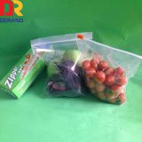 100% pure LDPE customized printing transparent plastic slider bag for food