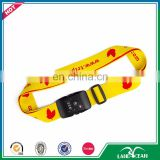 Fashion adjustable tsa travel luggage belt with scale