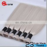 2015 hot selling 100% wholesale 7a 8a 9a full cuticle no shedding no tangle grey braiding hair