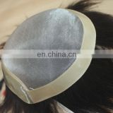 Factory wholesale human hair toupee top quality indian men hair toupee wig
