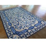 Turq Blue Vintage Rug Pattern Home Decor Carpet Rugs