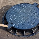 Round ductile iron manhole cover   clear openingØ 600
