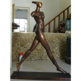 Bronze Brass Abstract Figure Lady Sculpture From Chinese Bronze Statue Manufacturers