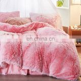 Custom bed cover Shaggy Fur Duvet Cover Luxury Ultra Soft Velvet Bedding Set