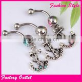 Latest Body Piercing Jewelry Navel Ring Stainless Steel Belly Navel Ring