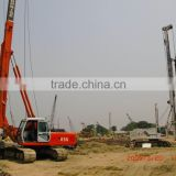 HF856A hydraulic rotary piling driver 38 tons large torque 80 KN.m engineer oversea service ok