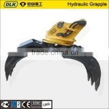 hydraulic log grapple for excavator/excavator 360 degree rotating rock gripper                                                                         Quality Choice
