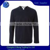 Bamboo cotton mens plain t shirt long sleeve tshirt o-neck