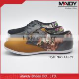 2016 Factory men fashion casual shoes rubber sole comfortable fabric for shoes men