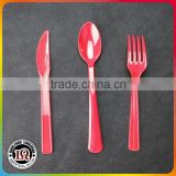 Disposable Red Plastic Cutlery Set