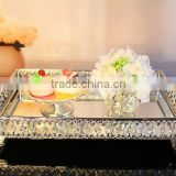 AN331 ANPHY European Style Real Silver Plating Wedding Cake Fruit Dessert Metal Glass Plate Stand Display 39.5*26.5*8.5cm 2500g