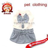 2014 New Style Knitting Patterns Cat Clothes Nice Big Bow Knot Smocking Off White Halloween Costumes for Dogs