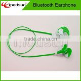 2015 Factory Price Wireless Bluetooth Earphone,Mini Stereo noodle cable Sports Bluetooth Earphone