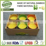 colorful bio & eco bamboo fibre candle holder, candle cup