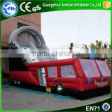 Giant inflatable fire truck water slide home inflatable water slide inflatable monster truck for adult