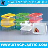 300ml Dinner Seasoning bagasse personalized multi rectangle 3 pcs set food container