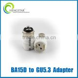 ceramic lamp adapter GU24,GU10,E27,E14,E12, B15d to GU5.3 adapter