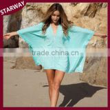 Wholesale High Quality SW17067 V-Neck Cover Up Sexy beach dress/