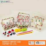 Buy wholesale from china	hand sewing needles kit ,sewing basket