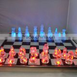 LED Glass of red and blue light-emitting chess set