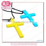 Custom Wooden Color Religious Cross Necklace Pendant ( wood Art/crafts in laser-cut & engraving)charm