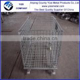 High quality High quality and durability rolling heavy duty stacking steel wire mesh containers
