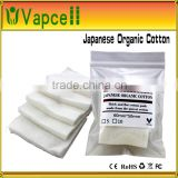 hot sell 2015 new products high quality 100% pure japanese organic cotton wick ecig cotton