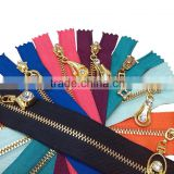 No. 3 # high-grade colorful metal zipper for bag,Heavy duty metal zippers for garment
