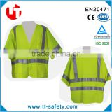 wholesale cheap high visibility fluorescent yellow breathable work shirt reflective t-shir