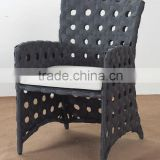 outdoor swingasan chair in big flat wicker in open weaving way with cream cushion and it is hot sale