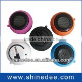 round shaped with battery portable phone speaker(SP-109)