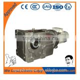 hollow shaft bevel helical gearbox with motor